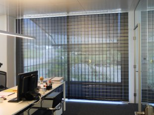 Vertical blinds for conference rooms in offices