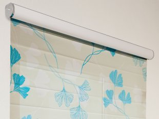 Electrical roller blind Trend-Line with pleated and printed film