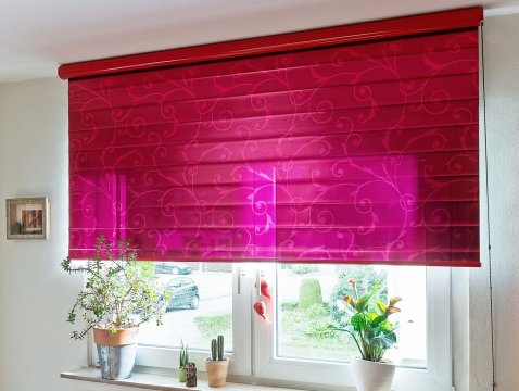 Decorative film roller blind for sun protection with printing