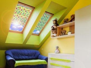 Rollo für Velux-Dachfenster mit Dekor